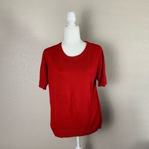 Sag Harbor True Red Sweater Top